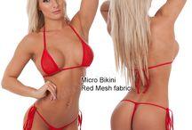 Micro Bikini, tiny tops and string bikini bottoms / Sexy Micro Bikini with tiny tops and string bottoms. / by Suits You Swimwear