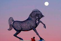 Andy Scott sculptures.