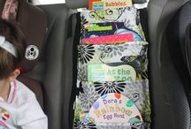 Kids stuffs in car