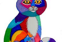 gatos e cores