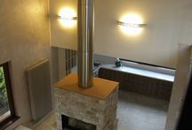 Exposed flue / Instead of hiding it, sometimes the flue can solve aesthetic and functional needs if you leave it nude