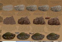 Tierra, montañas y rocas para el Belén