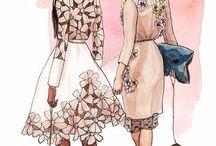 schițe haine designer