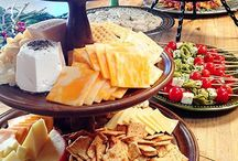 Cheeseboard and fruit and veg  platters
