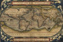 Antique World Map Art Poster Print