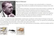 Bauhaus Designer - Marcel Breuer / Marcel Breuer wurde in Ungarn geboren und arbeitete kurze Zeit in einem Wiener Archtekturbüro, bevor er 1920 bis 1924 am Bauhaus in Weimar studierte. ◥◣◥◣◥◣ Marcel Breuer was born in Hungary and worked briefly in a Viennese archtektur office before he studied at the Bauhaus in Weimar from 1920   to 1924.