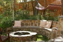 Home ---- FIRE PITS  & yards outdoor KITCHENS