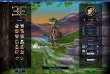 Character Creation Screens