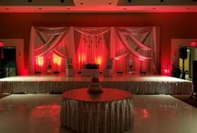 Silver & Red Wedding Backdrop