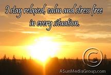 Affirmation Sunrise Magnets / Positive Words for Self-Help
