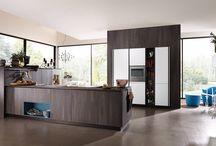 Alno Modern Kitchen  / Alno modern kitchen called AlnoStar Smartline in the dark front called Caruba