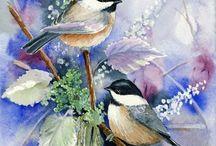 осень птицы