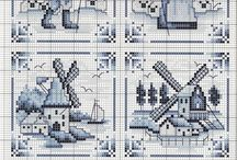 Delft crosstitch