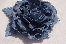 цветы из джинсы