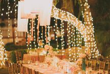 Decoration & Bridesmaids / string lights and details...