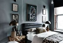 Bedrooms made beautiful by art / Inspiration on making art a beautiful feature of your home - bedroom edition
