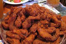 Top chicken wings