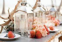 beach wedding theme / inspiration beach renewal wedding  coral beach wedding blue and coral beach wedding  natural and coral beach wedding  / by Amande L.B