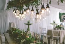 Outdoor Lighting / #color #champagne #dress  #wedding #bride #bridesmaid #decor #table