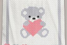 C2C Crochet Blanket Patterns - C2C Crochet Graphs / C2C Crochet Baby Blanket Patterns with graphs and written row-by-row instructions.