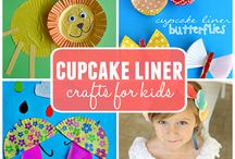 Cupcake Liner Crafts / Crafts made with cupcake liners / by Sara @ Happy Brown House