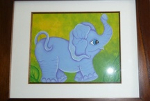 Kids Room / Elephant that I painted