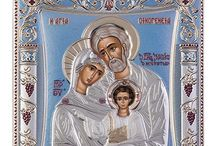 Greek Orthodox icon holy family