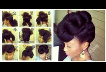Afro hair and make up looks / What to do with this 4C crown of mine! Natural hair styles and makeup looks