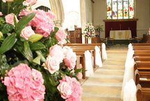 Wedding Ceremony at Braxted Park / Braxted Park has an onsite church for couples who want a religious ceremony.