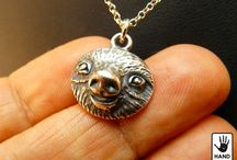 Sloths :) / Sloths sterling silver necklaces by Reed