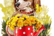 собаки рисунки