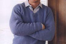 Gehaakte herentruien/ Crochet men's sweaters