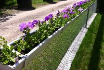 Dressing up chain link fencing