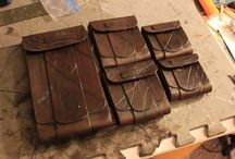 Leather pouches