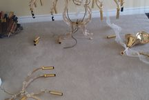 Chandelier Installation Before and after / Chandelier Installation Before and after