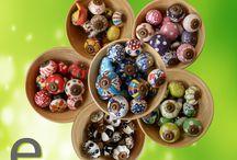 Ciotole di Bambù... piene di Pomelli di Ceramica.... / Abbiamo messo alcuni dei nostri pomelli di ceramica, suddivisi per colori, all'interno di una delle nostre ciotole di bambù! Vi piacciono? #pomello #pomelli #bambù #bamboo