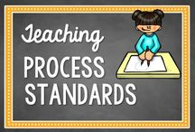 Process Standards / Activities, ideas, and resources for incorporating the process standards (mathematical practices) into your math instruction / by Math Coach's Corner