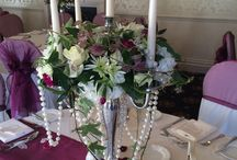 Centrepieces / A selection of centrepieces designed around your wedding to compliment and add that something special to your day.