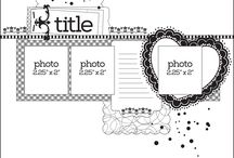 Scrapbooking Sketches and Titles / Great ideas for your scraobooks!