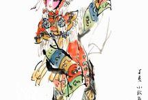 Chinese opera paintings