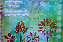 "Art Journal / ""combining art and words to express yourself"" / by Cecilia Dudley"