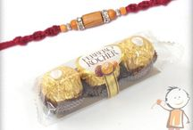 Rakhi with Chocolate & Sweets / Get best fresh sweets and chocolates along with Rakhi and send to your brother in India or abroad. Find more collection at www.bablarakhi.com