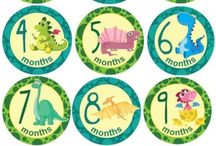 Milestone Stickers English / Milestone Stickers in English Made in South Africa 10cm in diameter So cute Buy online www.cuddlycheeks.co.za