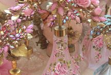 Wonderful Shabby Chic Decorated Style - furniture,antique and jeweled vintage perfume bottle