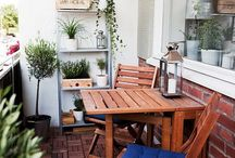 The outdoor room / Sprucing up the balcony and creating a cozy outdoor space where I can relax, grow herbs and enjoy some fresh air.