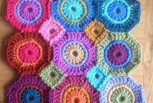 crochet square, star, mandala, flower