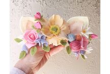 Flores de fieltro