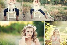 Senior Portraits with Chair or Stool Posing