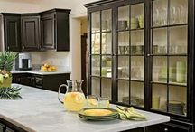 I see right through you! / GLASS CABINET DOORS!!