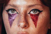 clowns makeup glitter